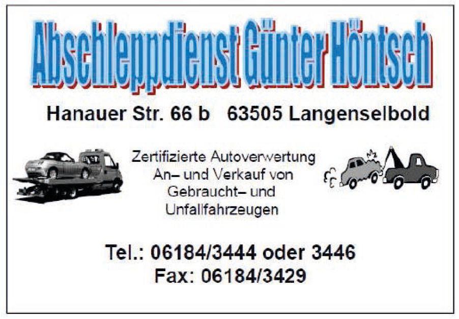 Logo Abschleppdienst Autoverwertung Höntsch